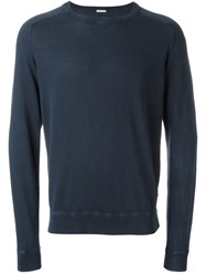 Massimo Alba Crew Neck Sweater Blue