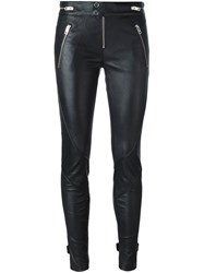 Diesel Leather Skinny Pants Black