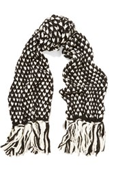 Karl Lagerfeld Knitted Scarf Black