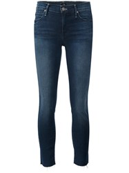 Mother 'Double Fray Charmer Crop' Jeans Blue