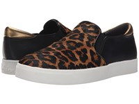 Sam Edelman Miles Brown Black Sahara Leopard Brahma Hair Oily Velour Suede Women's Slip On Shoes Animal Print