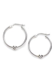Lord And Taylor Sterling Silver Mini Ball Hoop Earrings