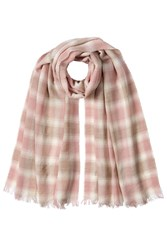 Polo Ralph Lauren Printed Scarf With Wool Magenta