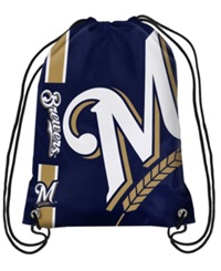 Forever Collectibles Milwaukee Brewers Big Logo Drawstring Bag Navy
