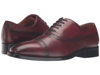 Dune Rebeche Bordo Leather Men's Lace Up Cap Toe Shoes Burgundy