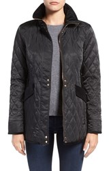 Vince Camuto Women's Velvet Trim Quilted Riding Jacket