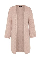 Hallhuber Chunky Knit Long Cardigan Beige