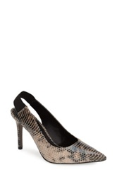Trouve 'Mila' Pointy Toe Slingback Pump Women Brown