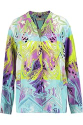 Emilio Pucci Printed Silk Chiffon Blouse Purple