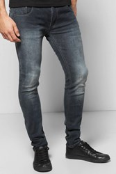 Boohoo Stretch Washed Grey Jeans Black