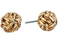 Lauren Ralph Lauren Monkey Fist Knot Stud Earrings Gold Earring