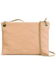 Lanvin Quilted Shoulder Bag Nude And Neutrals