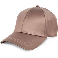 River Island Womens Pink Satin Cap