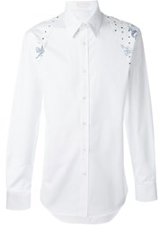 Alexander Mcqueen 'Harness' Tattoo Print Shirt White