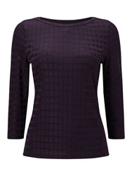 Eastex Shimmer Squares Top Purple