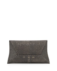 Vbh Metallic Stingray Envelope Clutch Bag Gunmetal