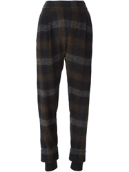 Stephan Schneider Checked Tapered Trousers Blue