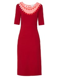 Altuzarra Minnie Cut Out Neck Stretch Cady Dress Red