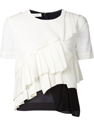 Cedric Charlier Cedric Charlier Pleated Front T Shirt Blouse