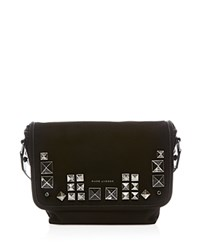 Marc Jacobs Small Canvas Chipped Studs Messenger Black