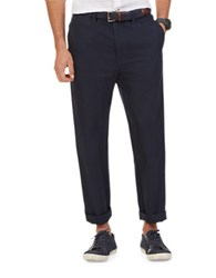 Nautica Linen And Cotton Pants True Navy