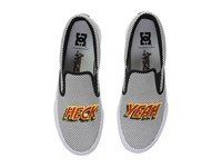 Dc Trase Slip On X At Black White Women's Shoes