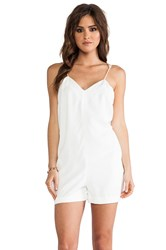 Finders Keepers Love Me Do Playsuit White