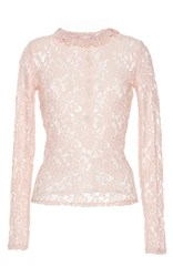 Manoush Long Sleeve Lace Top Pink