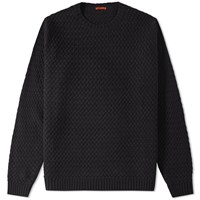 Barena Dosson Textured Crew Knit Black