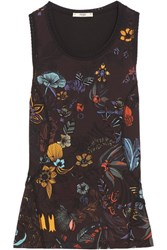 Fendi Printed Stretch Jersey Tank Black