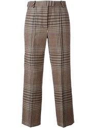 3.1 Phillip Lim Houndstooth Trousers Brown
