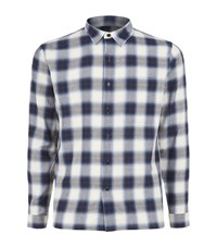 Sandro Checked Flannel Shirt Male Blue