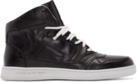 Diesel Black Gold Black Leather High Top Sneakers