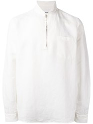 Our Legacy Quarter Zip Pullover White