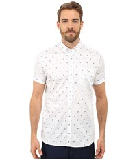 Ted Baker Mydance Short Sleeve Floral Spot Print Shirt White Men's Short Sleeve Button Up
