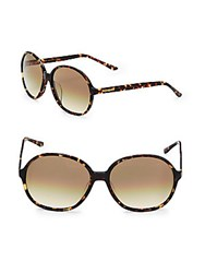 Yves Saint Laurent Round Tortoise Shell Sunglasses Gold Tan