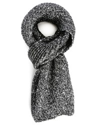 Sandro Black White Black Ice Scarf