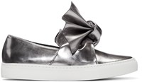 Cedric Charlier Silver Bow Slip On Sneakers