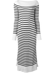 Erika Cavallini Striped Midi Dress Blue