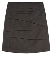 Comma Pencil Skirt Anthrazit Mottled Black