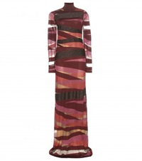 Emilio Pucci Wool Blend Maxi Dress Red