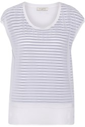Sandro That Layered Stretch Jersey Top White