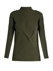 Rag And Bone Dale Wool Sweater Dark Green