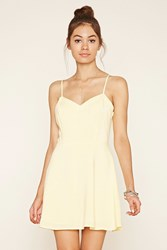 Forever 21 Cutout Fit And Flare Cami Dress