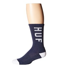 Huf Performance Crew Sock Navy Heather Crew Cut Socks Shoes Gray