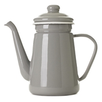 Enamel Coffee Pot Ash Grey Old Faithful Shop