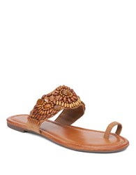 Jessica Simpson Toe Ring Microsuede Sandals Brown