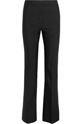 Zeus Dione Clymene Wool And Silk Blend Flared Pants Black