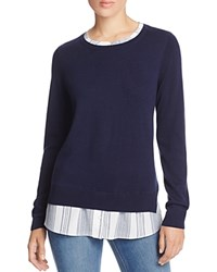 Nydj Layered Effect Sweater Roman Holiday Stripe