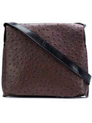 B May Textured Cross Body Bag Brown
